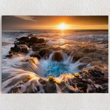 Personalisiertes Leinwandbild Naturpool auf Hawaii