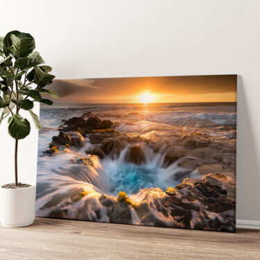 Naturpool auf Hawaii Wandbild personalisiert