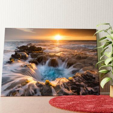 Personalisiertes Wandbild Naturpool auf Hawaii
