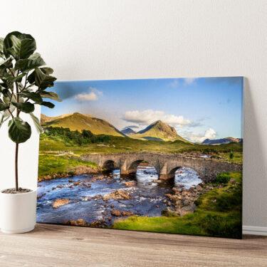 Natursteinbrücke in Schottland Wandbild personalisiert