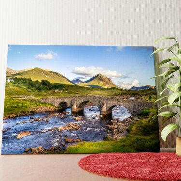 Personalisiertes Wandbild Natursteinbrücke in Schottland