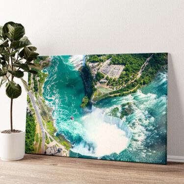 Niagara Wasserfälle Luftaufnahme Wandbild personalisiert
