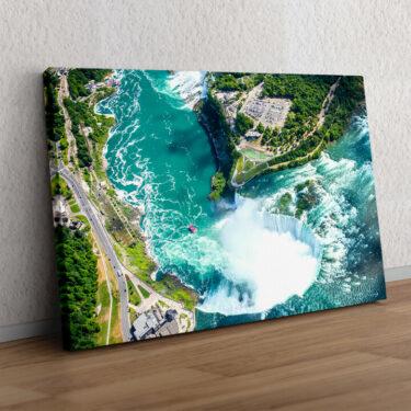 Niagara Wasserfälle Luftaufnahme