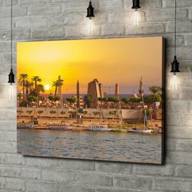 Leinwandbild personalisiert Nil bei Sonnenuntergang