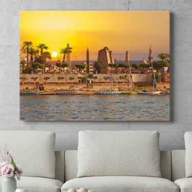 Personalisierbares Geschenk Nil bei Sonnenuntergang