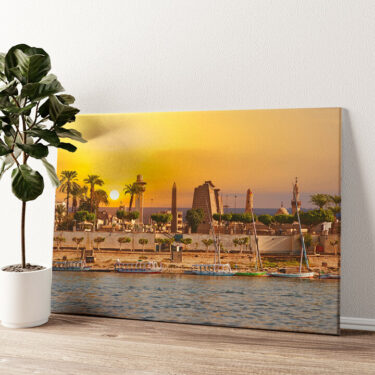 Nil bei Sonnenuntergang Wandbild personalisiert