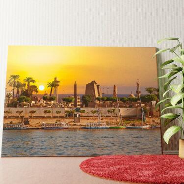 Personalisiertes Wandbild Nil bei Sonnenuntergang