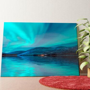 Personalisiertes Wandbild Nordlichter