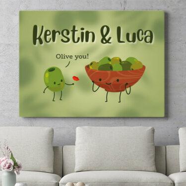 Personalisierbares Geschenk Olive You