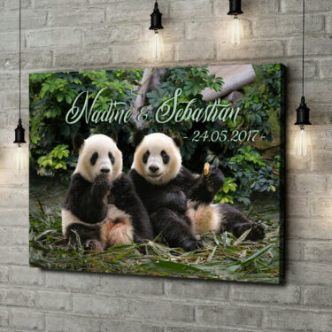 Leinwandbild personalisiert Pandabären