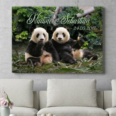 Personalisierbares Geschenk Pandabären