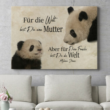 Personalisierbares Geschenk Pandamutter