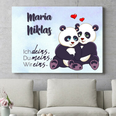 Personalisierbares Geschenk Pandas
