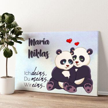 Pandas Wandbild personalisiert