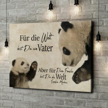 Leinwandbild personalisiert Pandavater