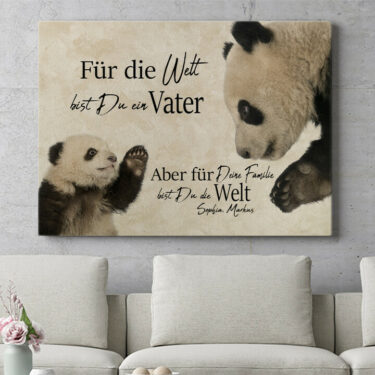 Personalisierbares Geschenk Pandavater