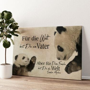 Pandavater Wandbild personalisiert