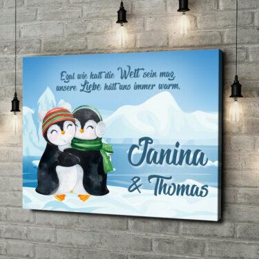 Leinwandbild personalisiert Penguins