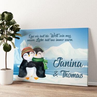 Penguins Wandbild personalisiert