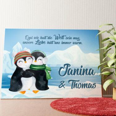 Personalisiertes Wandbild Penguins