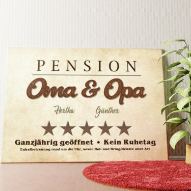 Personalisiertes Wandbild Pension Oma & Opa