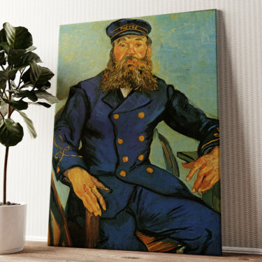 Portrait des Briefträgers Wandbild personalisiert