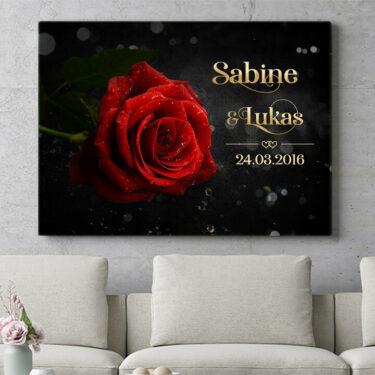 Personalisierbares Geschenk Rose der Liebe