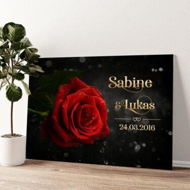 Rose der Liebe Wandbild personalisiert