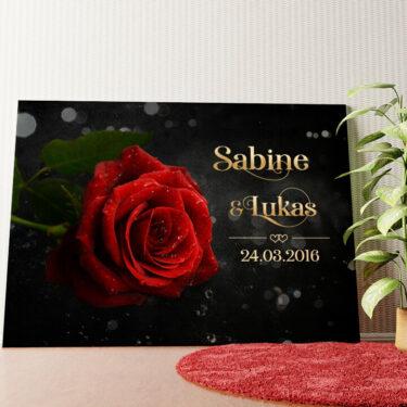 Personalisiertes Wandbild Rose der Liebe