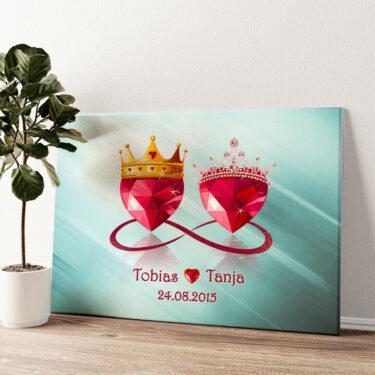 Royale Liebe Wandbild personalisiert