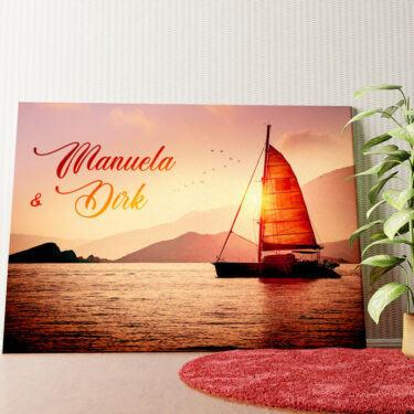 Personalisiertes Wandbild Sailing Love