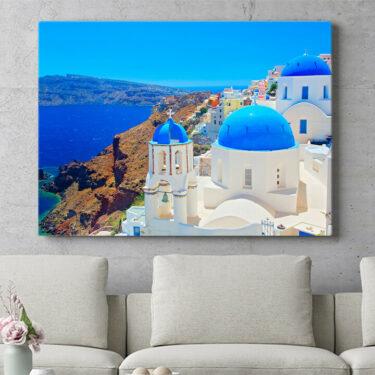 Personalisierbares Geschenk Santorini
