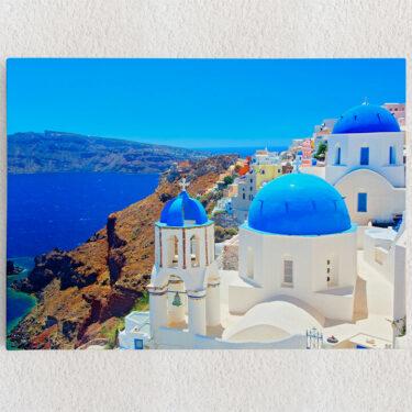 Personalisiertes Leinwandbild Santorini