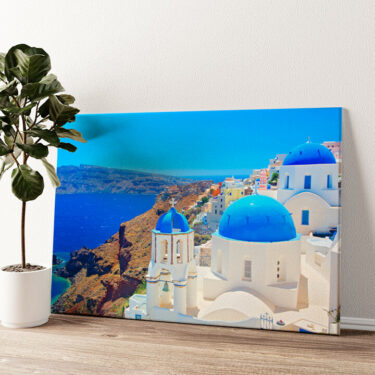 Santorini Wandbild personalisiert