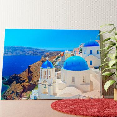 Personalisiertes Wandbild Santorini