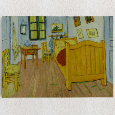 Personalisiertes Leinwandbild Schlafzimmer in Auvers