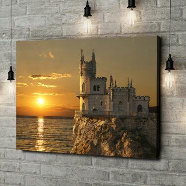 Leinwandbild personalisiert Schloss Schwalbennest Krim