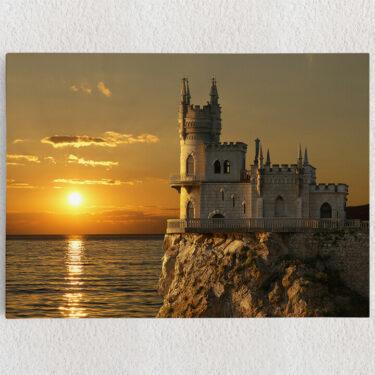 Personalisiertes Leinwandbild Schloss Schwalbennest Krim