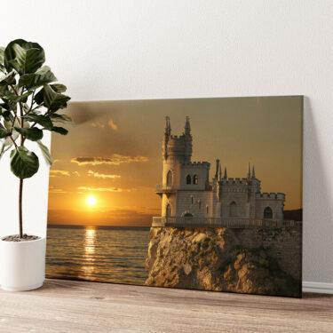 Schloss Schwalbennest Krim Wandbild personalisiert