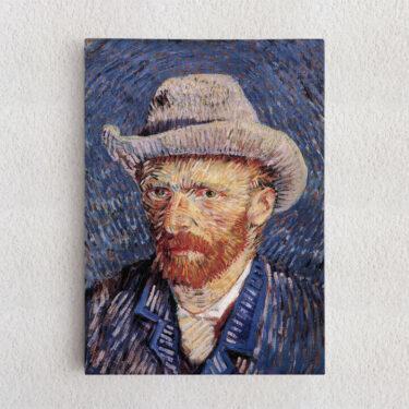 Personalisiertes Leinwandbild Selbstportrait mit Filzhut