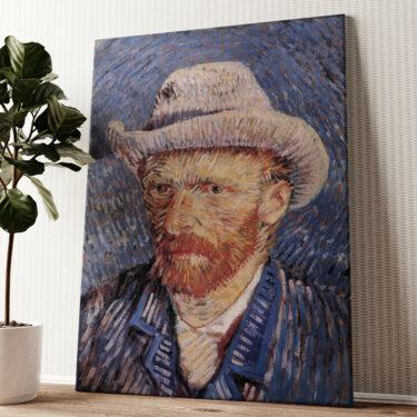 Selbstportrait mit Filzhut Wandbild personalisiert