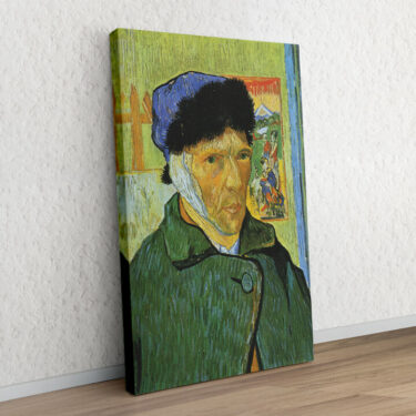 Selbstportrait mit Pelzmütze und verbundenem Ohr