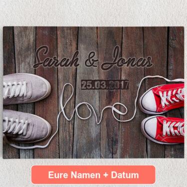 Personalisiertes Leinwandbild Sneaker