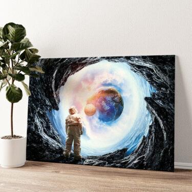 Spaceman Wandbild personalisiert