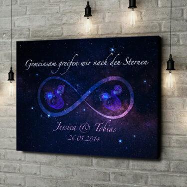 Leinwandbild personalisiert Sterne der Ewigkeit