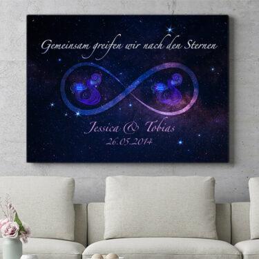 Personalisierbares Geschenk Sterne der Ewigkeit