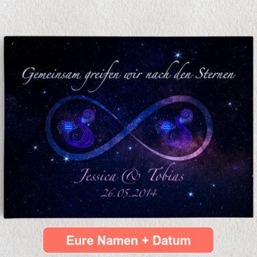 Personalisiertes Leinwandbild Sterne der Ewigkeit
