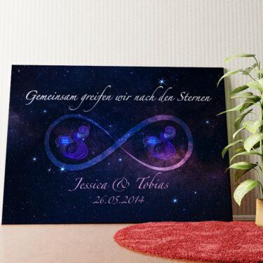 Personalisiertes Wandbild Sterne der Ewigkeit