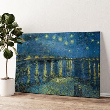 Sternennacht über der Rhone Wandbild personalisiert