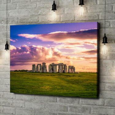 Leinwandbild personalisiert Stonehenge